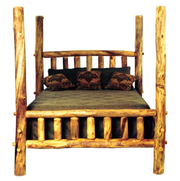 Tips Aspen High Post Log Bedhigh Poster Beds The Log Medium