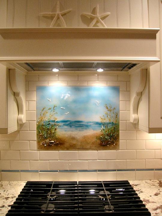 Tips Beach Themed Kitchen Backsplash Path To The Beach Medium