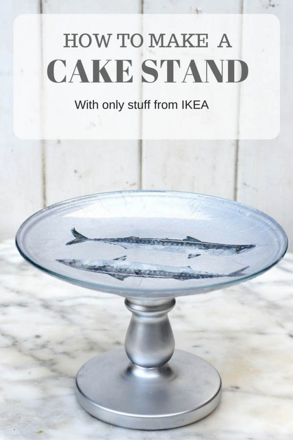 Tips Easy Diy Decoupaged Ikea Cake Stand Pillar Box Blue Medium
