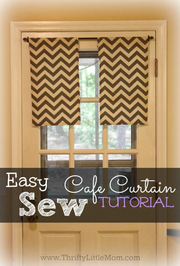 Tips Easy Sew Kitchen Cafe Curtains Thrifty Little Mom Medium