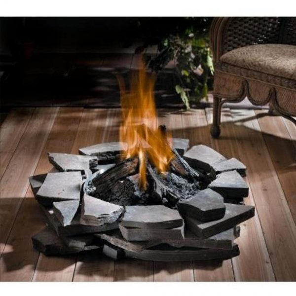 Tips Fire Pit Built Into Wood Deckdeck Design And Ideas Medium