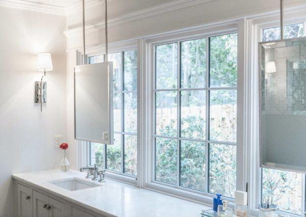 Tips Hanging Vanity Mirrors Transitional Bathroom Medium