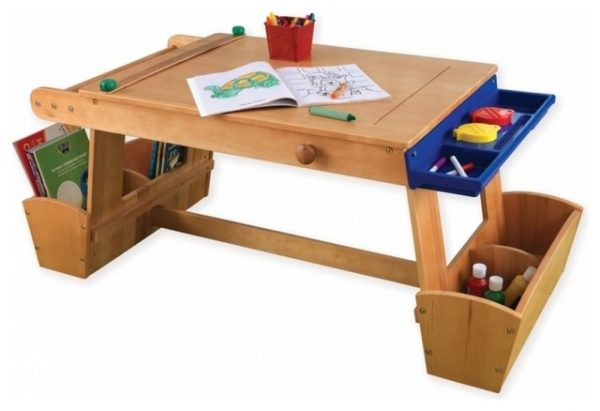 tips kidkraft art table with drying rack and storage medium