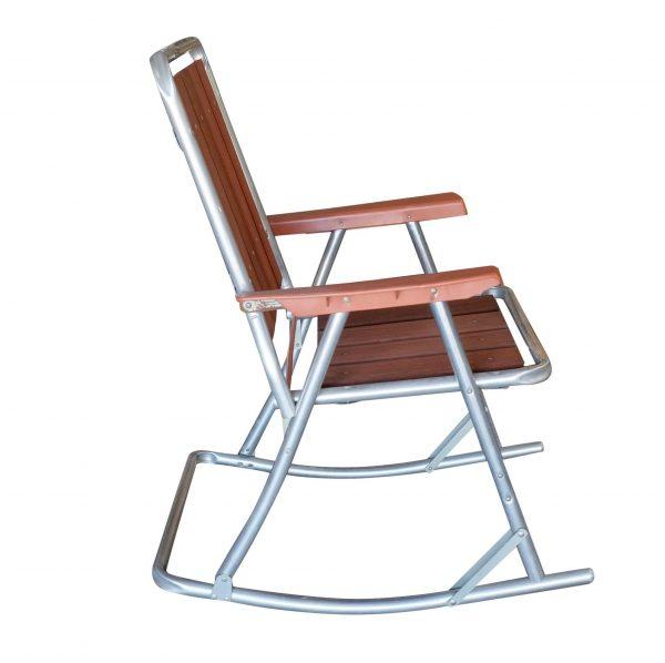Tips Midcentury Aluminum And Wood Outdoor Folding Rocking Medium