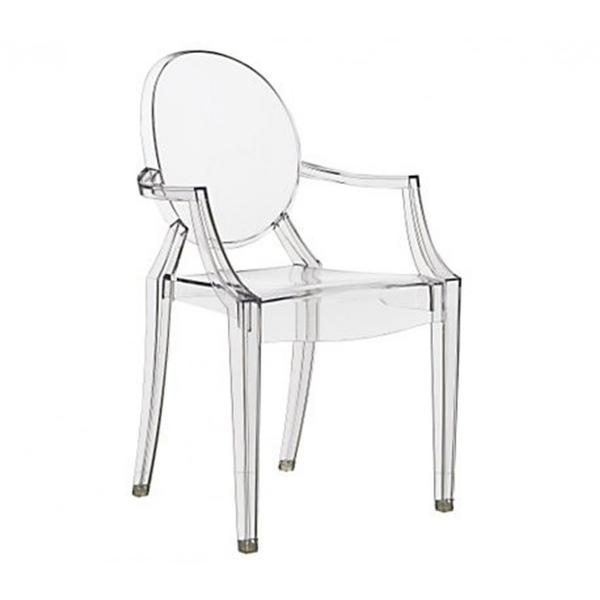Tips Philippe Starck Style Louis Ghost Arm Chair Clear  S Medium
