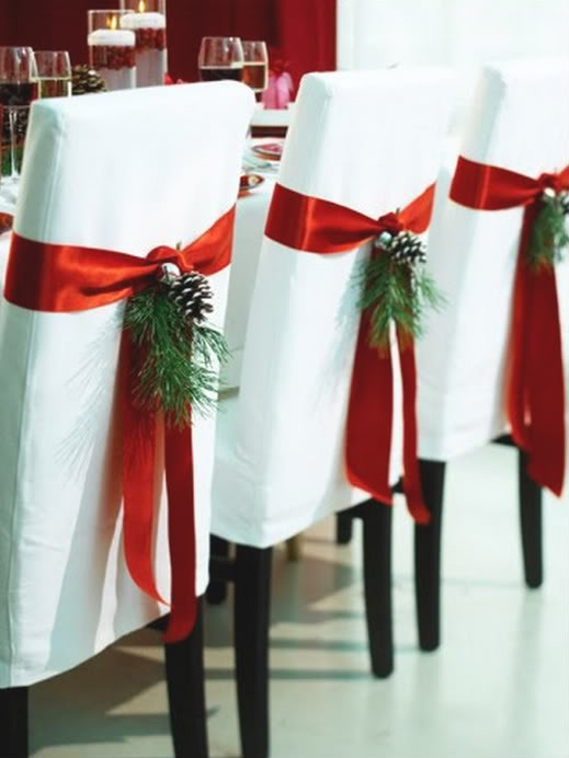 Tips  Project Parson Chair Covers For Christmas How Medium