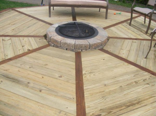 Tips Propane Fire Pits For Decksfirst Section Of New Deck Medium