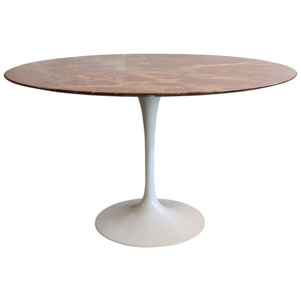 Tips Saarinen Rose Marble Tulip Dining Table At 1stdibs Medium