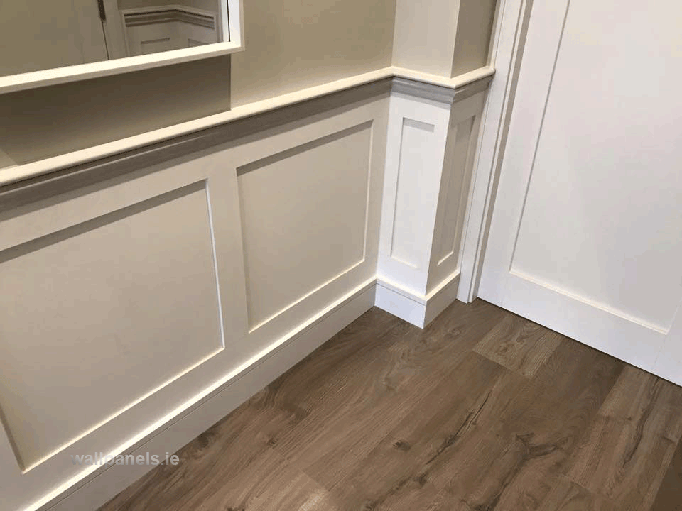 tips shaker style wall panelling fitted in diswellstown manor