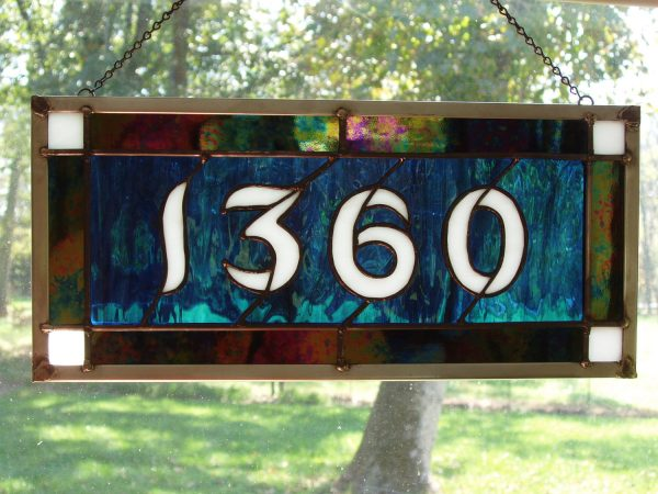 Tips Stained Glass House Numbers Medium