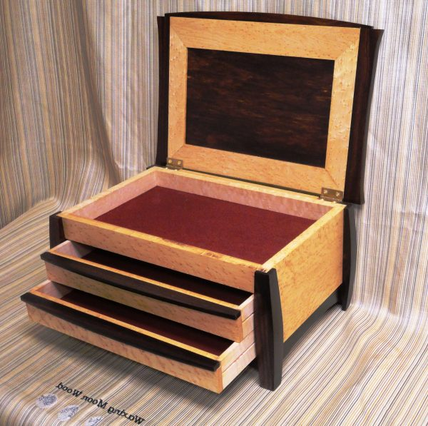 Tips Wooden Jewelry Box With Drawerscaymancode Medium