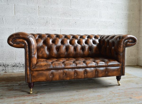 Top 1857 Leather Chesterfield Sofaabode Sofas Medium