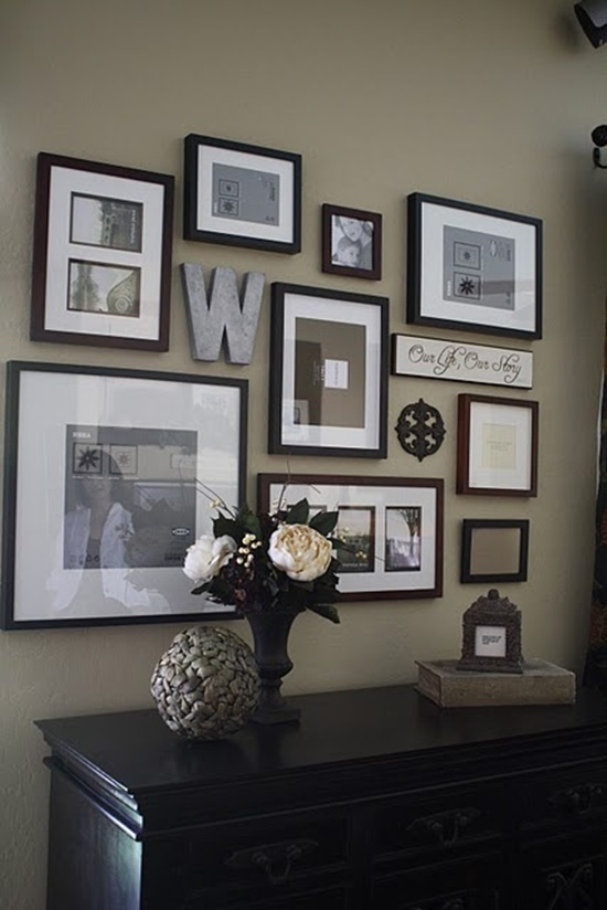 top 25 unique ideas for designing a photo wall