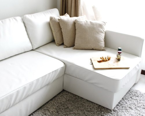 Top Custom Leather Sofa Bed Slipcover Ikea Manstad Medium