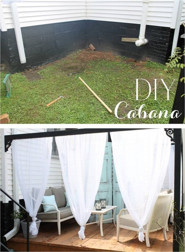 Top Diy Outdoor Cabana With Curtainscurb Appeal Medium
