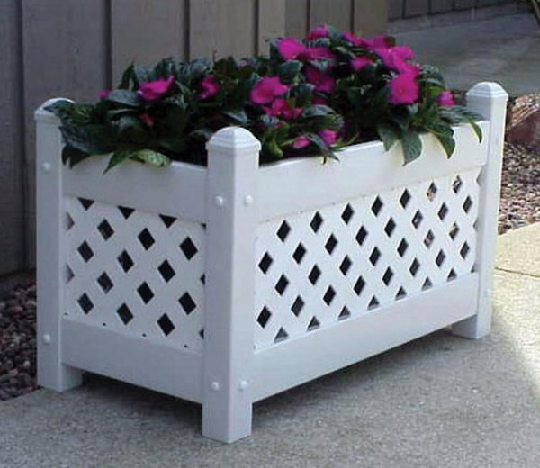 Top Garden Decor Adorable Large Outdoor Planter Boxes As Medium