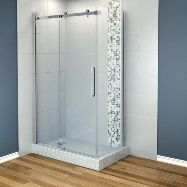 Top Maax Halo 48 In X 297 8 In Corner Shower Enclosure With Medium