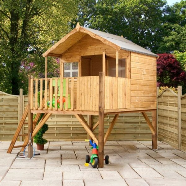 Top Mercia Honeysuckle Childrens Garden Playhouse   Tower Medium