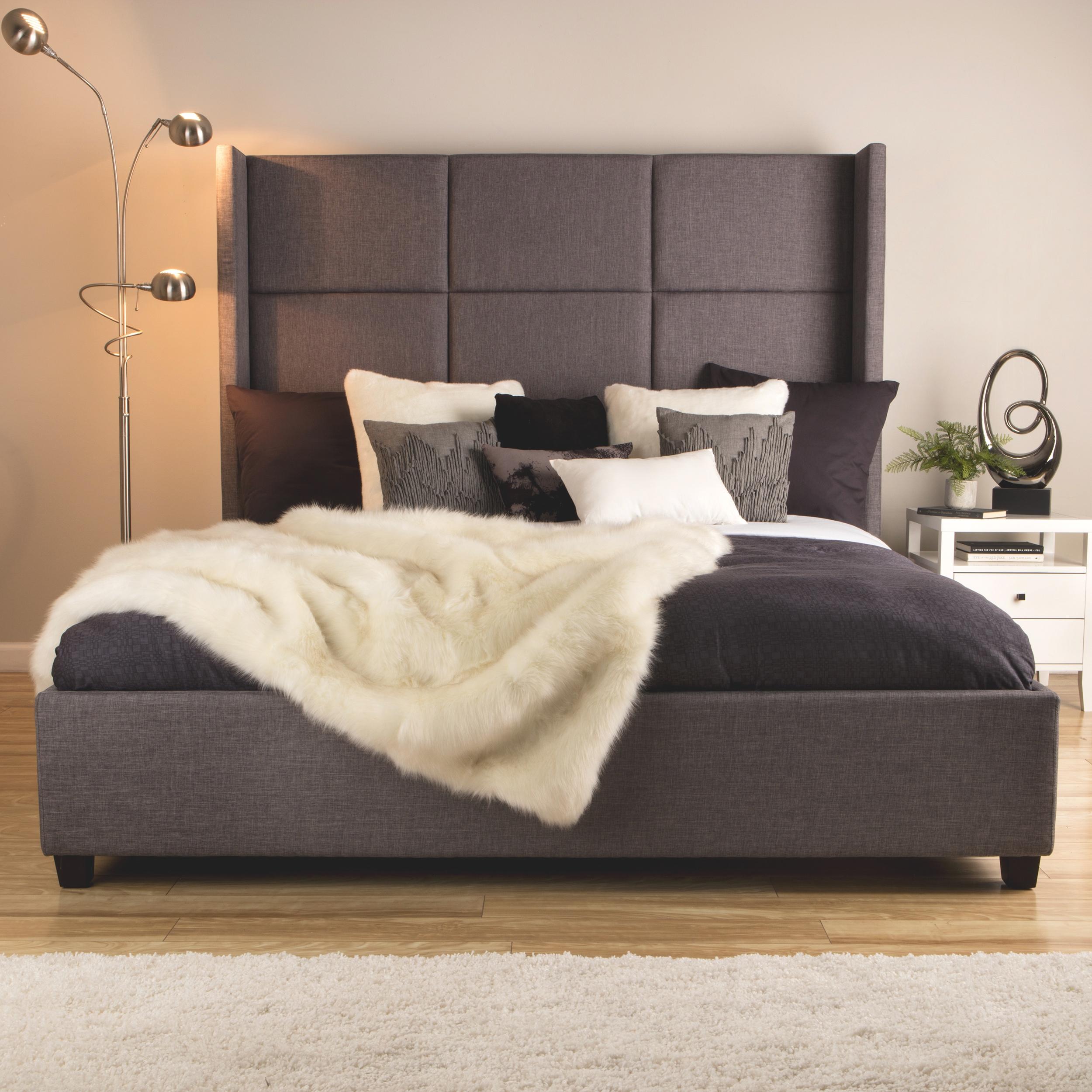 top modern king size bed frame bedrrom furniture upholstered