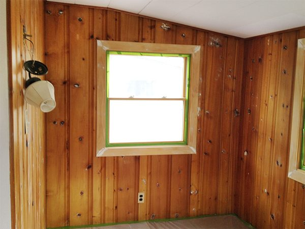 Top Painting Wood Paneling Knotty Or Nice Rather Square Medium