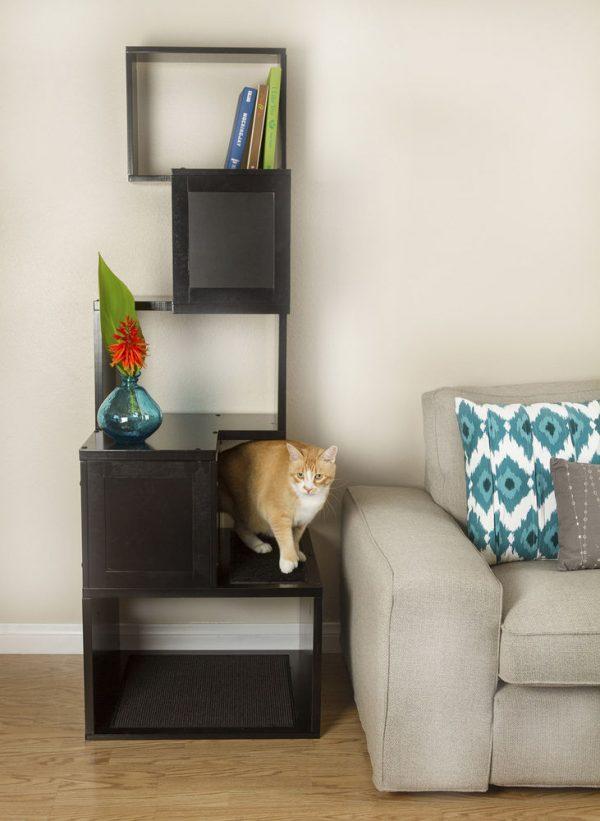 Top The Sebastian Modern Cat Tree In Black Or White By Medium