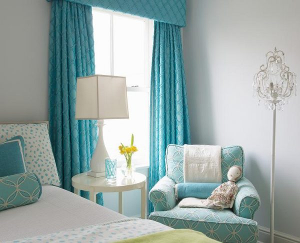 Top Turquoise Girls Bedroom With Turquoise Cornice Box And Medium