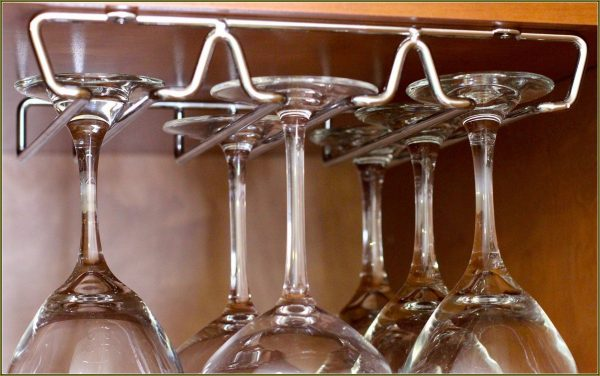 Top Under Cabinet Stemware Rack Brushed Nickelhome Design Ideas Medium