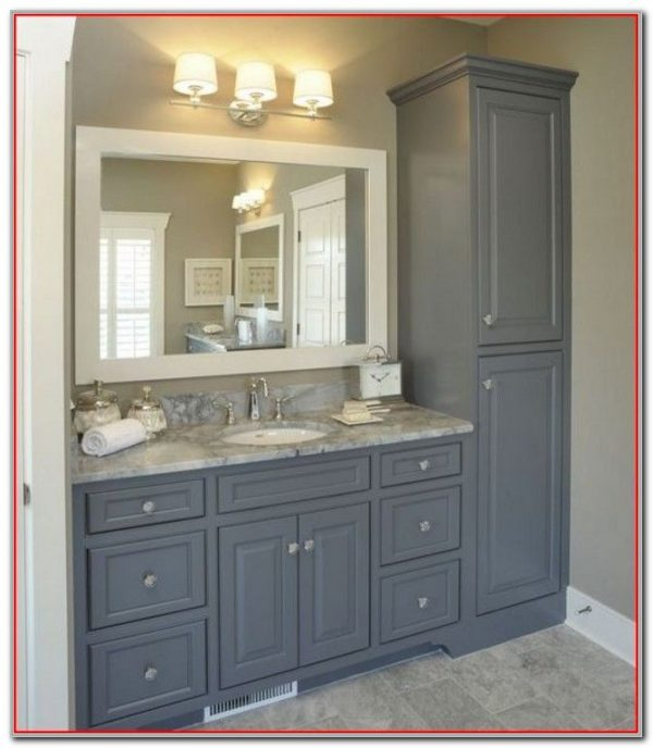 Top Vanity Linen Cabinet With Hamper Cabinethome Medium