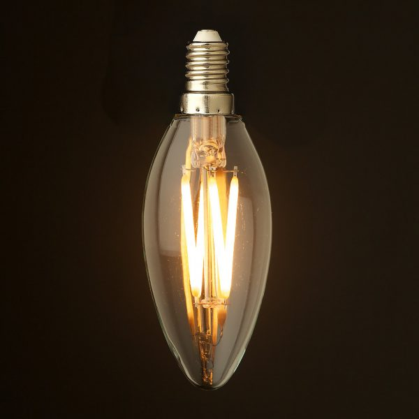 We Share 4 Watt Dimmable Filament Led E14 Candle Bulb Medium