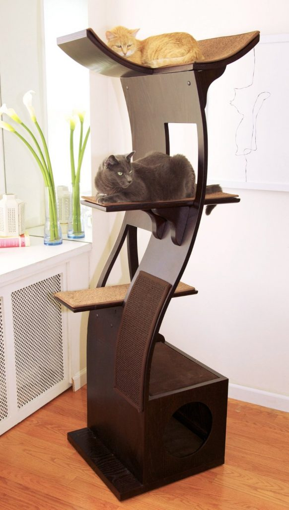 we share 6 unique modern cat trees to spruce up your living space