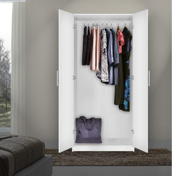 We Share Alta Wardrobe Closet Free Standing Wardrobe With Doors Medium