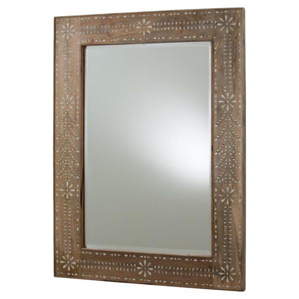 We Share Bila Bazaar Floral Bone Inlay Wood Mirrorkathy Kuo Home Medium
