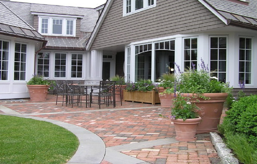 We Share Brick Patio Paver Designs With Concrete Border ... on Brick Paver Patio Designs id=45260