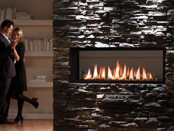 We Share Chic Linear Fireplace Ideas  Modern Fireplaces With Great Medium