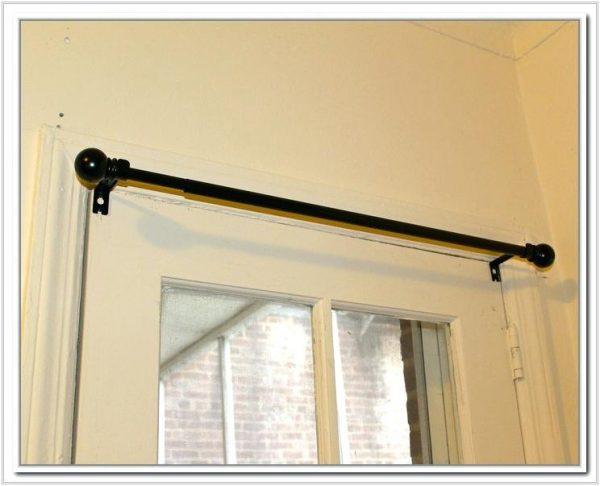 We Share Curtain Rods For French Door Curtains A Awesome Swinging Medium