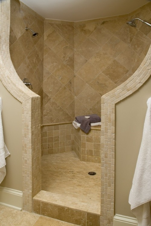 We Share Dual Shower Heads6 Wonderful Doorless Walk In Shower Medium