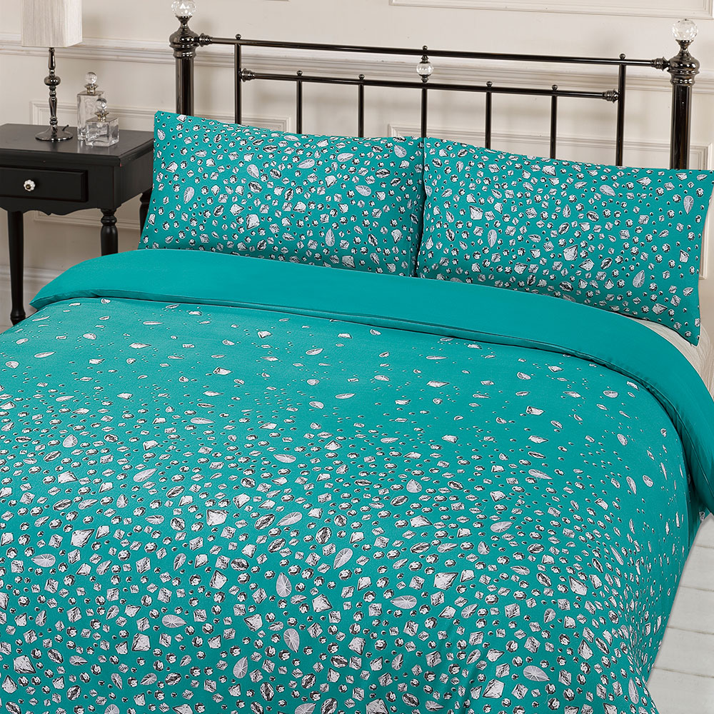 we share glitz gem print quilt duvet cover with pillowcases bedding
