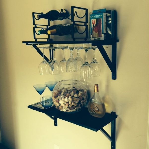 We Share Home Bar Ikea Shelves Cheap Stemware Holders Wine Medium