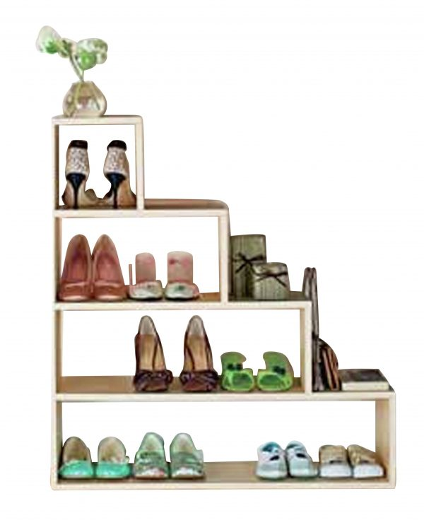 We Share Home Understairs Shoe Storage Unit Beech Effect Medium
