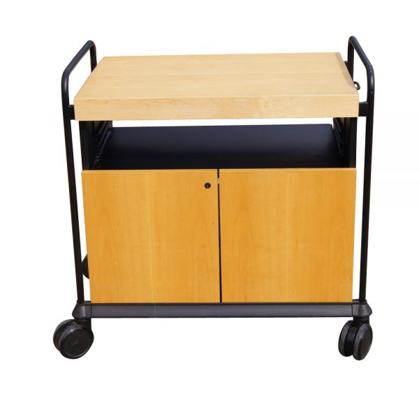We Share Kitchen Utility Birch Rolling Cart Cabinet With Butcher Medium