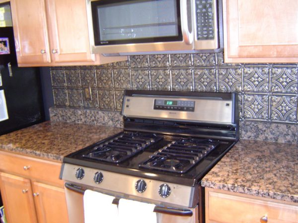 We Share Kitchenhow To Apply Faux Tin Backsplash For Kitchen Diy Medium