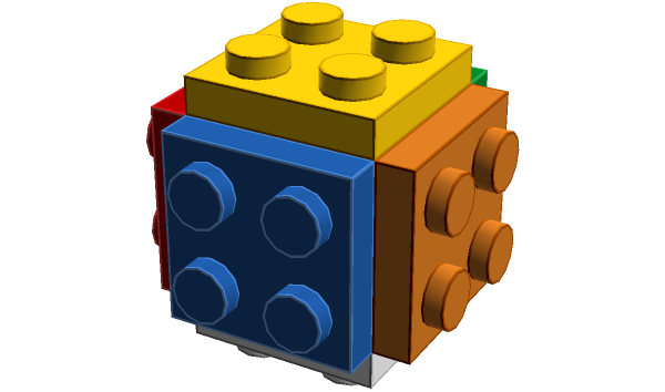 we share lego 2 x 2 cube bricksafe medium