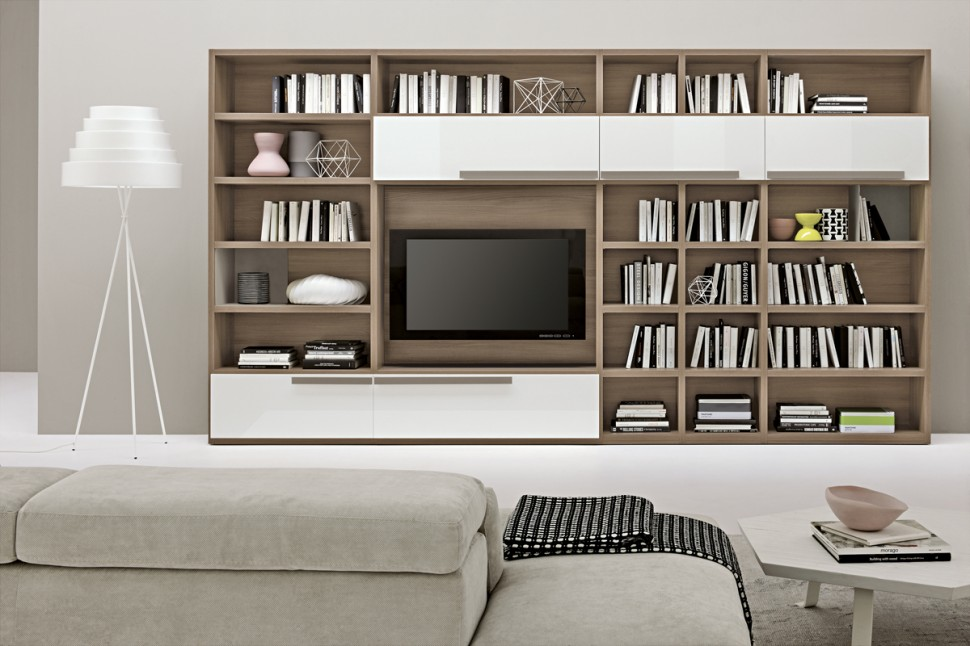 we share modern living room wall units with storage inspiration