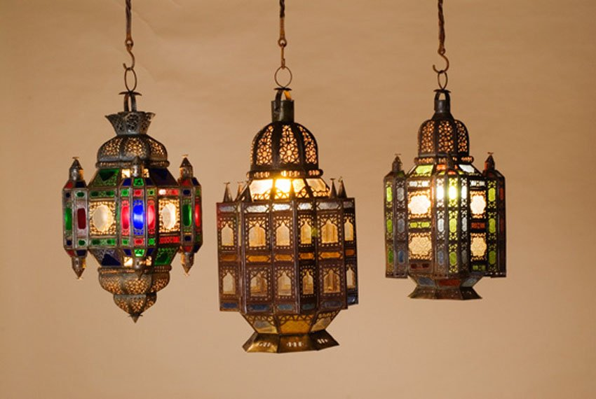 we share moroccan lamps  embassy made