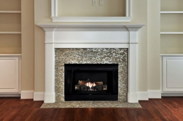 We Share Mosaic Tiled Fireplace Contemporary Living Room Medium