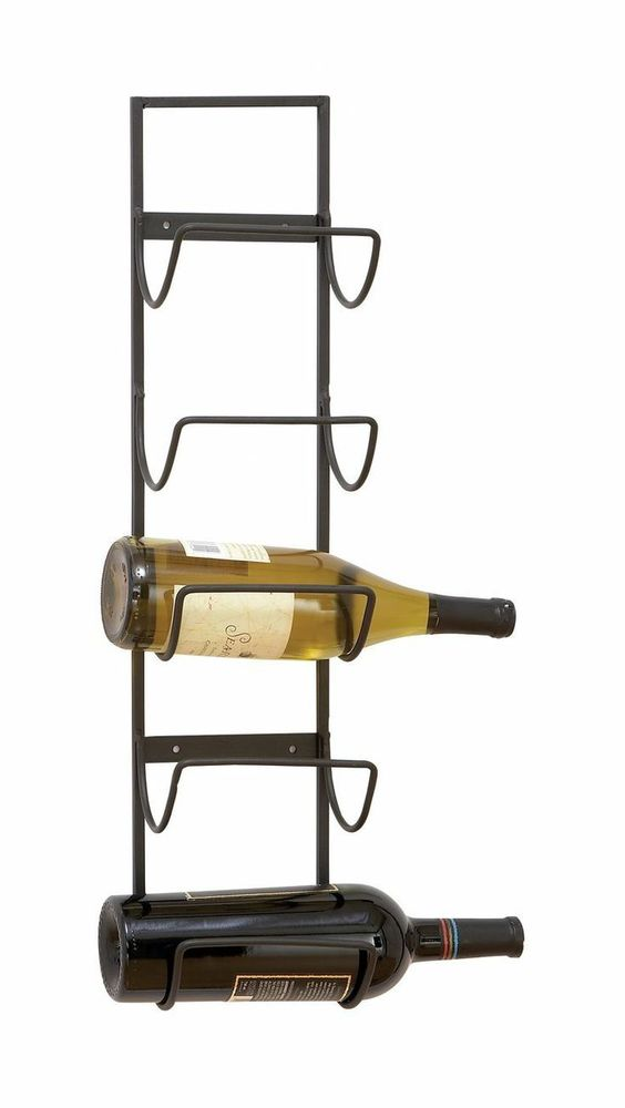 We Share New Metal Wine Bottle Storage Rack Hanging Holder Wall Medium