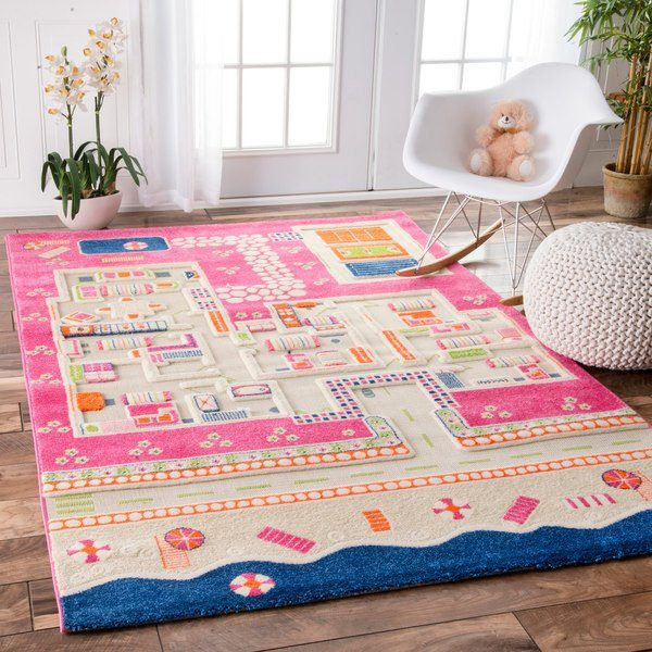 We Share Nuloom Summertime Playhouse Kids Pink Rug 5 X 75 Medium