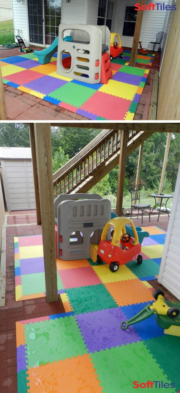 We Share Outdoor Patio Cushioned Childrens Play Mat Using Medium