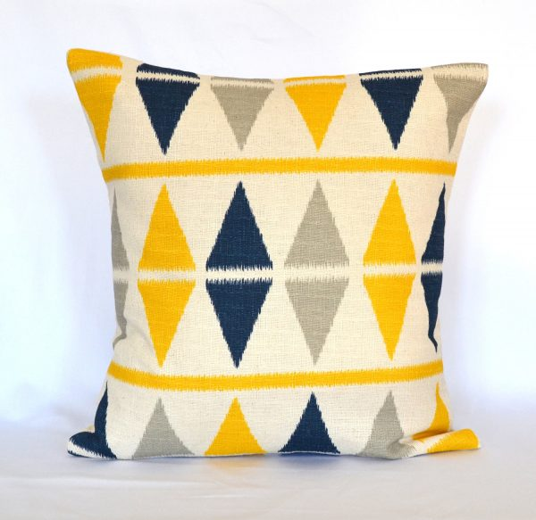 We Share Pillows Blue Navy And Yellow Decorative Pillow Cover Throw Medium