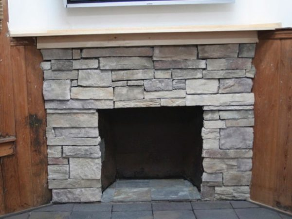 We Share Refacing Brick Fireplace With Stone Veneerhome Design Ideas Medium